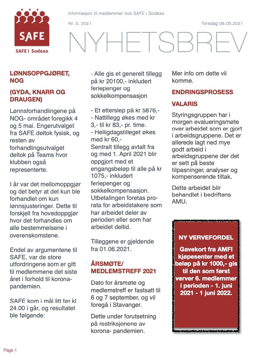 Lønnsoppgjøret NOG, endringsprosess, Valaris, årsmøte 2021